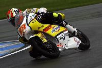 Andrea Iannone in azione nel Campionato del Mondo 125cc con il marchio BZM