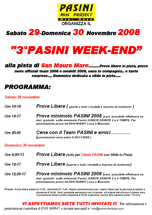 3° Pasini Week End