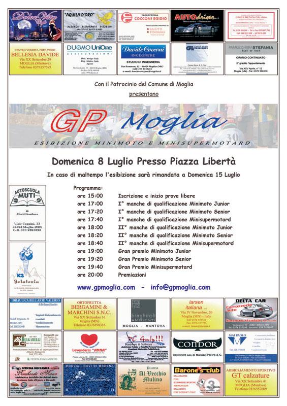 programma gp moglia 2007 Mantova gara amatoriale