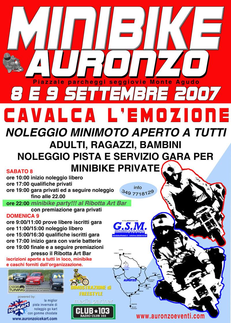manifestazione minimoto Auronzo