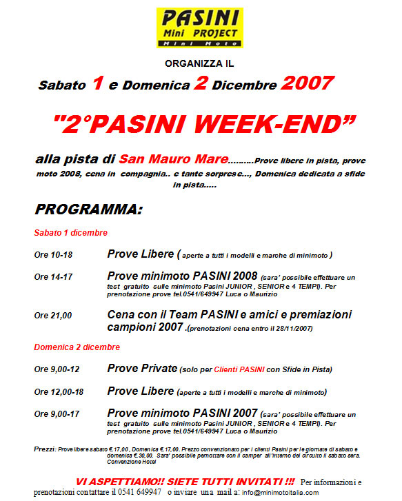 2° Pasini Day